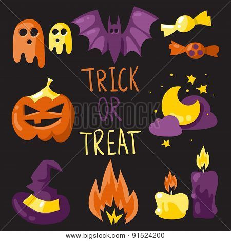 Trick Or Treat Elements Set