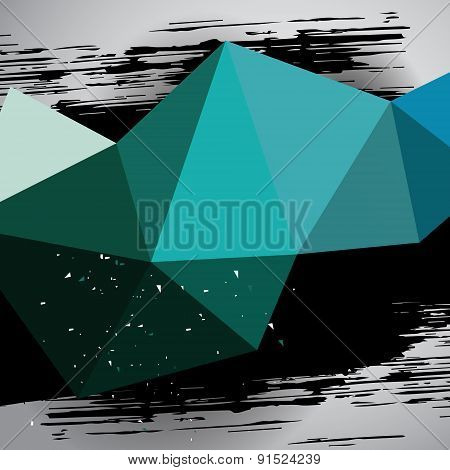 Turquoise Motion Grunge Background