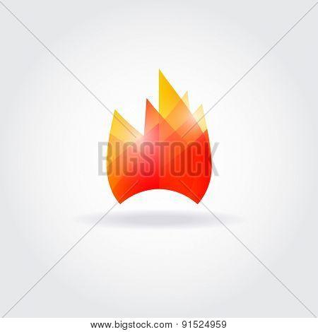 Fire flame vector logo design