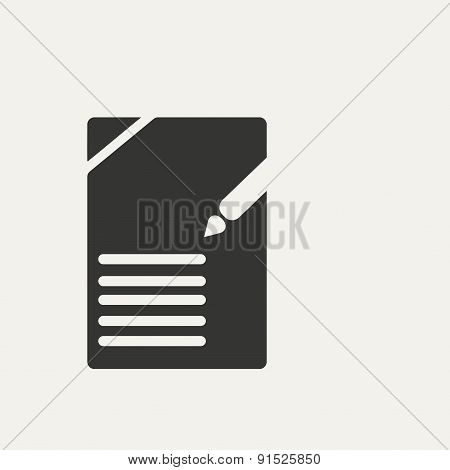 Flat in black and white mobile application documents