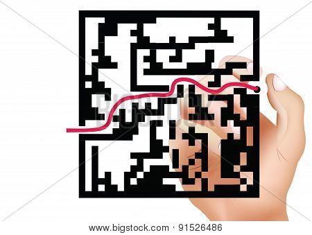 winding road maze