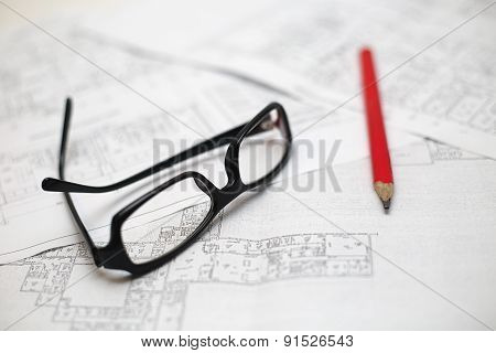 Architectural Plans Of The Old Paper