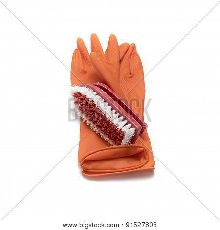 Cleaning Glove And Brush