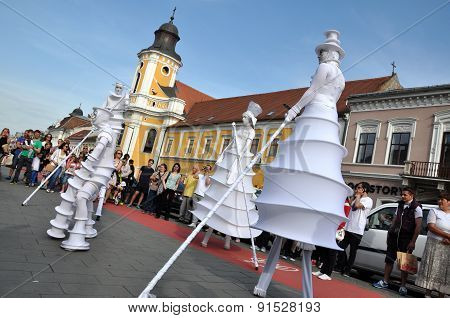 Artist On Stilts, Street Theater