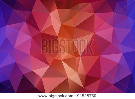Multicolor Polygonal Mosaic Paper Background
