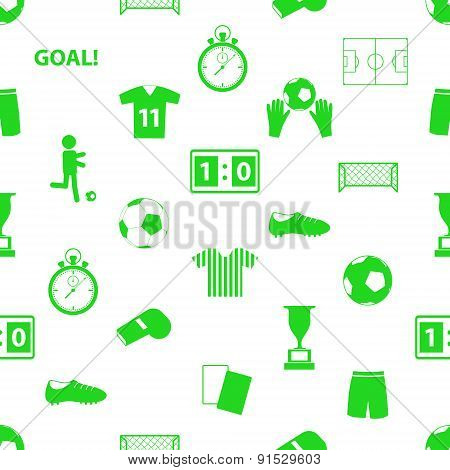 Soccer Football Icons Seamless Green Icons Pattern Eps10