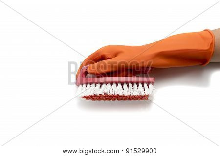 Hand Incleaning Glove And Brush