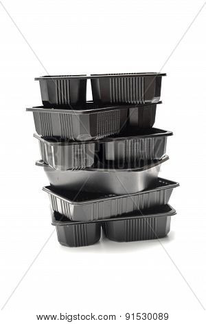 Stack Of Plastic Food Container