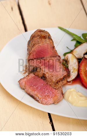 Beef Filet Mignon Grilled With Vegetables