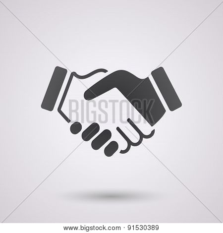 Black Handshake Background