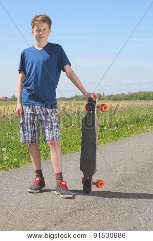 Boy With Longboard