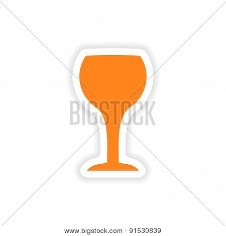icon sticker realistic design on paper drinks