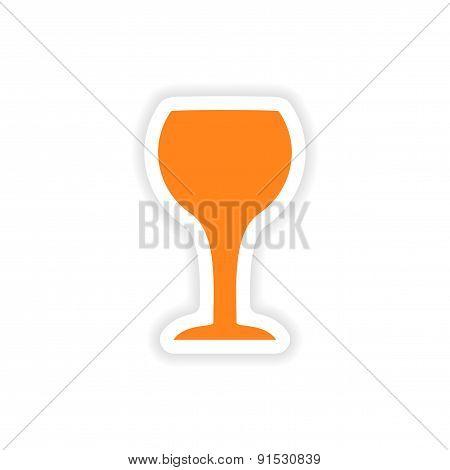 icon sticker realistic design on paper drinks