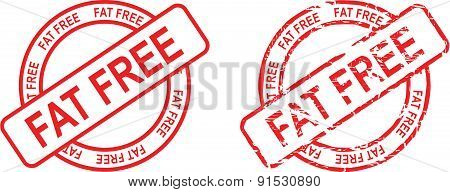 fat free stamp sticker set