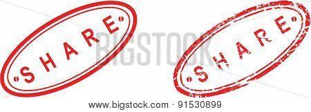 share stamp sticker set