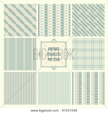 Seamless backgrounds collection, vintage tile