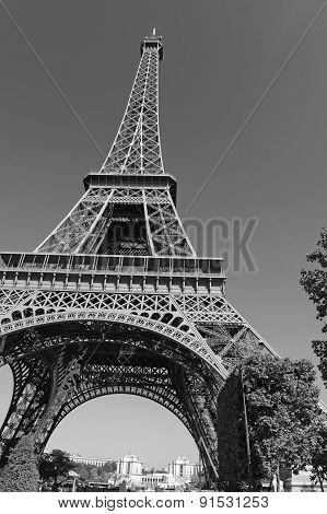 The iconic Eiffel Tower in Paris, France