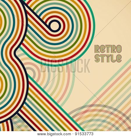 Abstract digital circles retro vector background