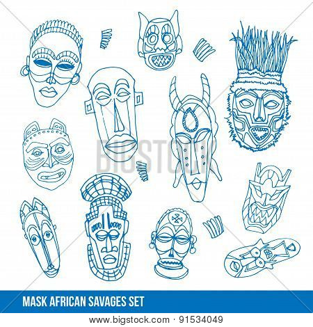 Collection of african mask