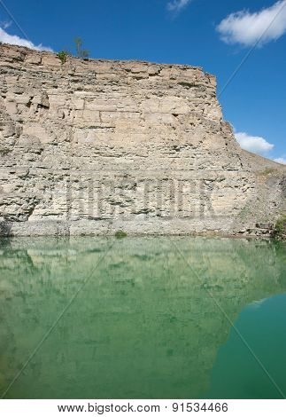 Lake At A Gravel Quarry
