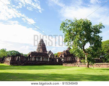 Ancient Stone Castle, Phimai Thailand.