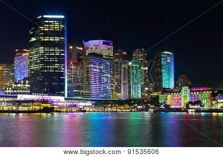 Sydney City And Circular Quay By Night