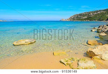 Rocks In Capo Testa Shoreline