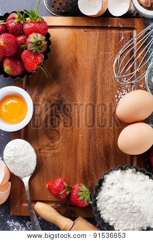 Baking Ingredients And Berries