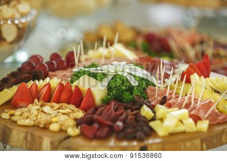 Catering Service With Various Fruits And Vegetables