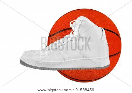 High-top Classic Basketball Shoe Sneaker With Ball