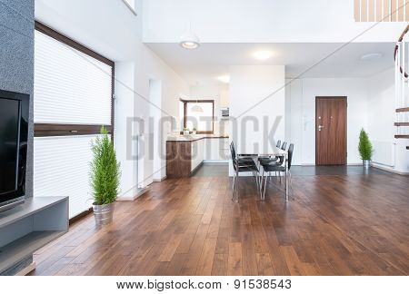 Spacious Interior Of Dinning Room