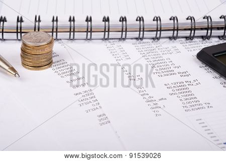 Notebook with documents