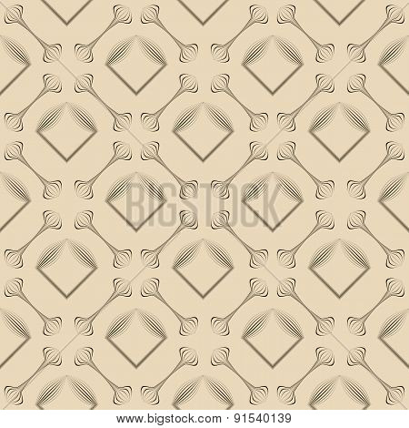Seamless Pattern Ornament. Geometric Background Vector Texture.