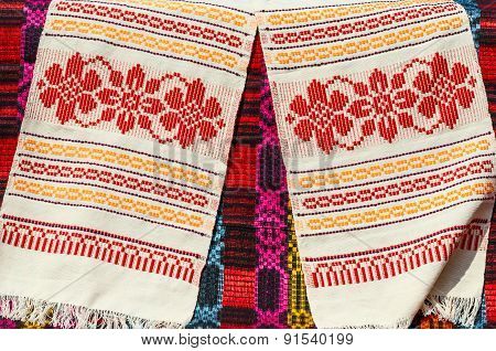 Belorussian Towels With Traditional Geometric Patterns