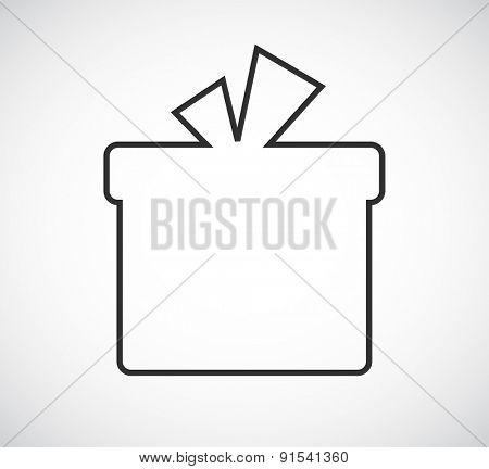 gift box outline frame design