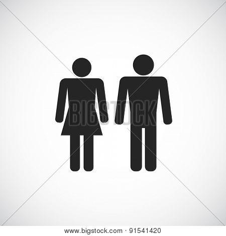 man and woman symbol - black icon design