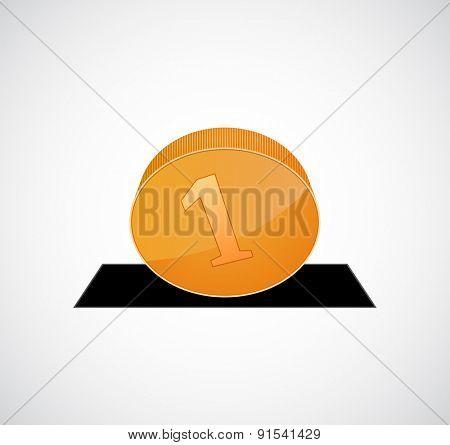 coin drop icon design
