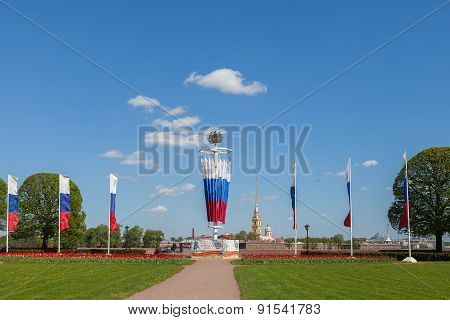 Decoration Of St. Petersburg To The Birthday Of The City