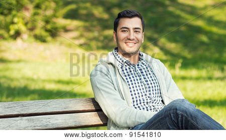 Portrait Of A Beautiful Young Man, Outdoor - Outside