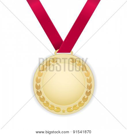 medal gold template label icon design
