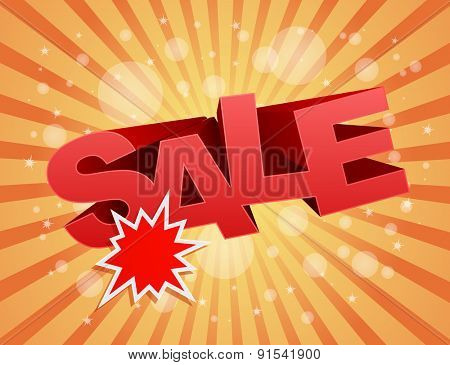 sale business background with splash star label design