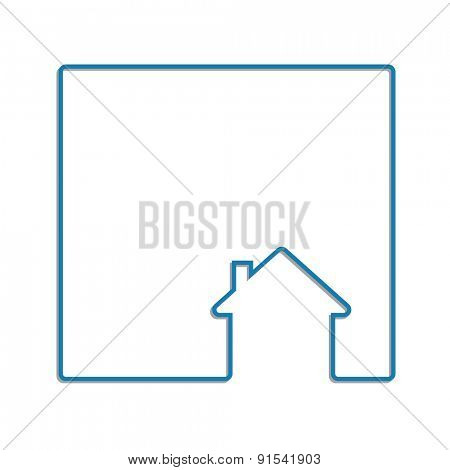 house line icon abstract background frame concept