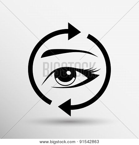 Eyelashes eyebrows vector eyelash eye  icon makeup isolated