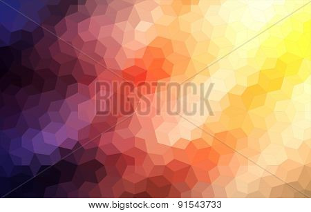 Two-dimensional mosaic colorful background