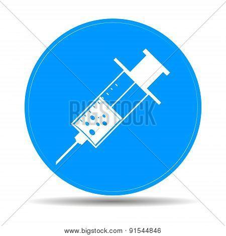 Medical Syringe. Vector Icon Illustrator Eps 10