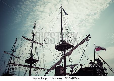 Galleon Is Big Tourist Attraction Of Tri City In Poland