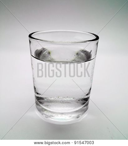 Glass Of Water On Isolated