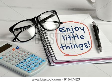 Enjoy The Little Things Word
