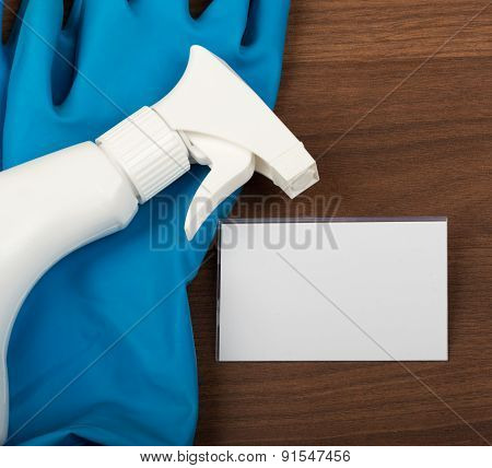 Airbrush with rubber gloves