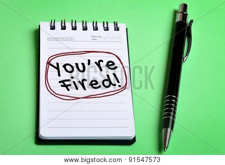 You Are Fired Word